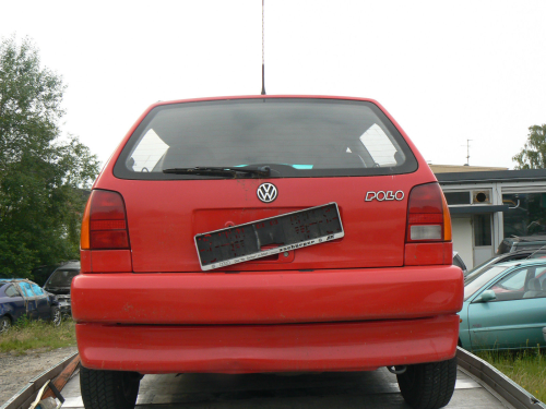 VW Polo (6N) Bj:1994-1999 Heckklappe Kofferraumklappe rot